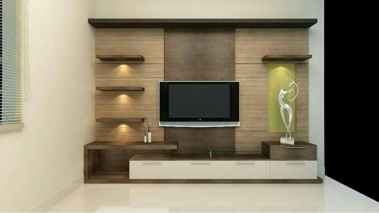 20 Simple TV Unit Designs for Living Room    Modern TV Wall ...